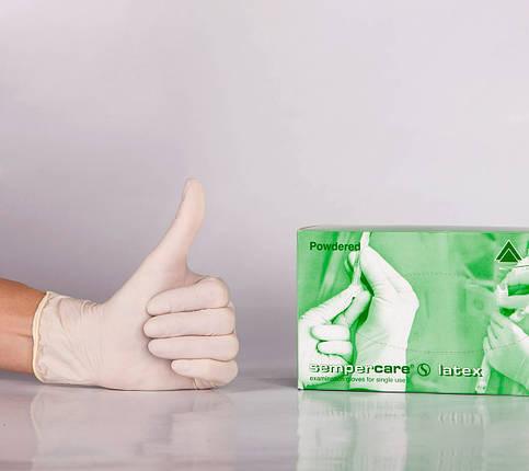 Перчатки одноразовые Semperсare латекс нестерильные (100 шт/50 пар), фото 2