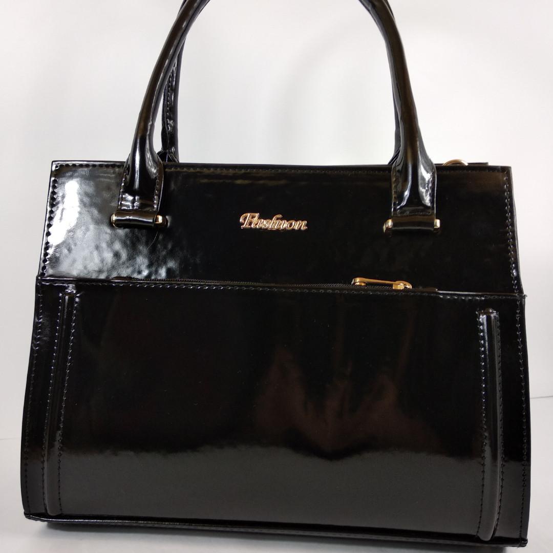 6082663a43ab Сумка женская черная лаковая классическая стильная : продажа, цена в ...