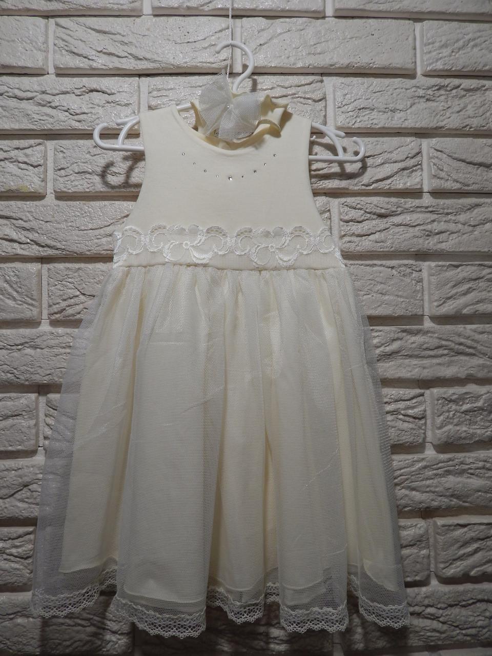 Платье+повязка ТМ Happy ToT размеры 62, 68, 74 и 80