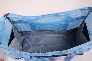 Сумка переноска 50х22х33см для собак и котов до 12кг Do do pet, Summer Blue голубой L, фото 3