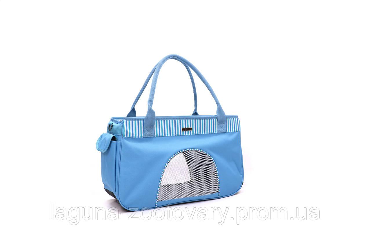 Сумка переноска 44х19х27см  для собак и котов до 4кг Do do pet, Smile Blue, голубой S
