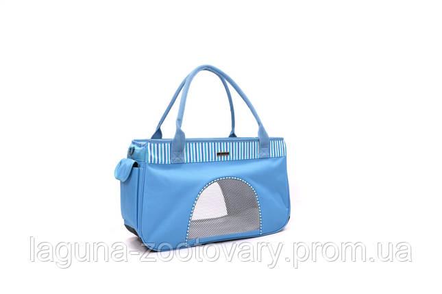 Сумка переноска 44х19х27см  для собак и котов до 4кг Do do pet, Smile Blue, голубой S, фото 2