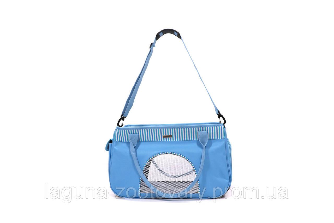 Сумка переноска 50х19х30см для собак и котов до 12кг Do do pet, Smile Blue, голубой L