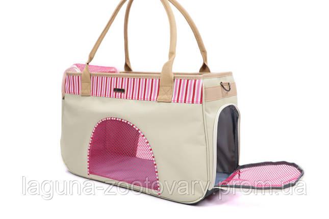 Сумка переноска 50х19х30см для собак и котов до 12кг, Do do pet,Smile Pink, розовый L, фото 2
