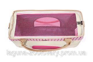 Сумка переноска 50х19х30см для собак и котов до 12кг, Do do pet,Smile Pink, розовый L, фото 3