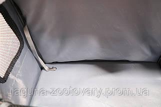 Кейс-переноска-рюкзак 45х24х45см для собак и котов до 10кг  Do Do Pet, Linno Schoko шоколад, фото 3