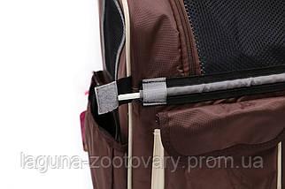 Кейс-переноска-рюкзак 45х24х45см для собак и котов до 10кг  Do Do Pet, Linno Schoko шоколад, фото 2