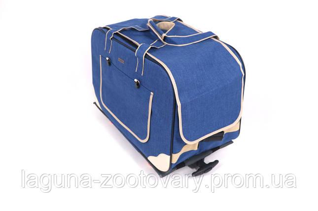 Кейс - переноска 62х35х45см для собак и котов до 20кг  Do Do Pet, Gooddy Blue голубой, фото 2