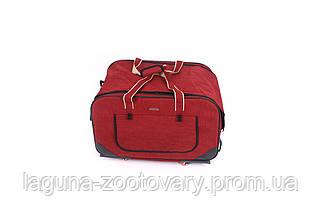 Кейс - переноска 62х35х46см для собак и котов до 20кг Do Do Pet, Gooddy Red красный, фото 3