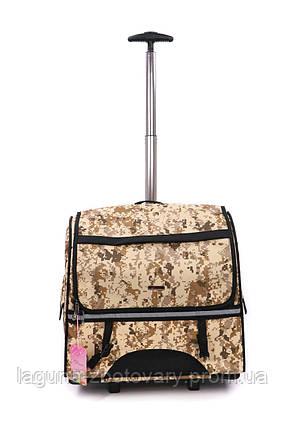 Кейс-переноска-рюкзак 44х23х44см для собак и котов до 10кг Do Do Pet, Robby Camouflage камуфляж, фото 2