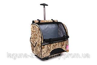 Кейс-переноска-рюкзак 44х23х44см для собак и котов до 10кг Do Do Pet, Robby Camouflage камуфляж, фото 3
