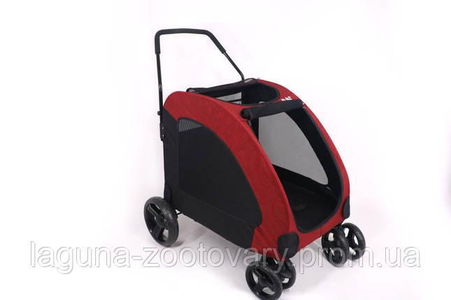 Манеж перевозка 80х64х110см для собак и котов до 40кг Do Do Pet, Classic красный, фото 2