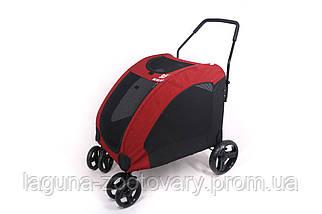 Манеж перевозка 80х64х110см для собак и котов до 40кг Do Do Pet, Classic красный, фото 3
