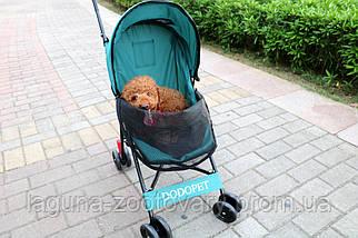 Коляска для собак и котов 39х60х94см для собак и котов до 8кг Do Do Pet, Luxury pet Mint мята, фото 2