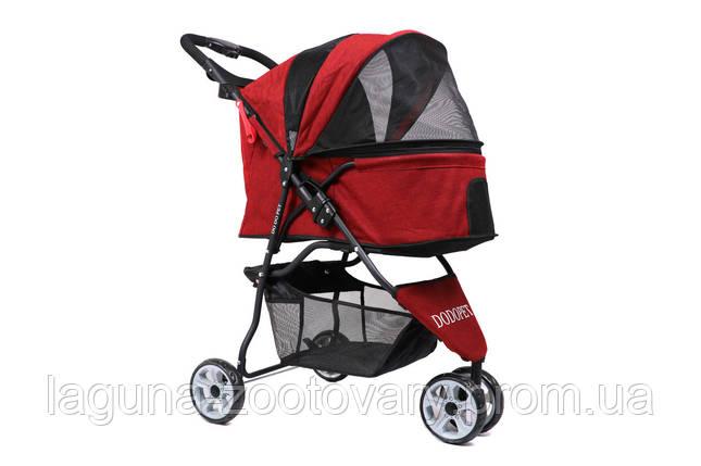 Коляска для собак и котов до 15кг 83х54х95см Do Do Pet, Tricycle Round RED красный, фото 2