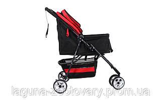 Коляска до 15кг 77х95х46см для собак и котов Do Do Pet, Tricycle Black черный, фото 2