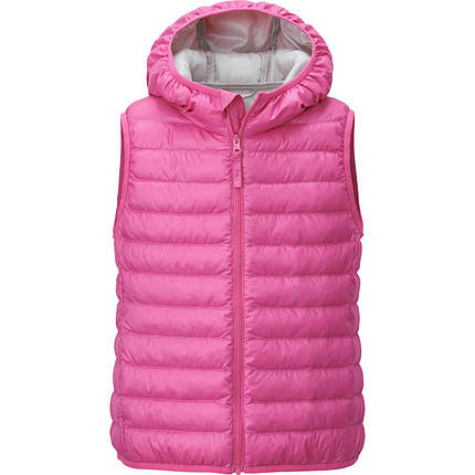 Жилетка Uniqlo girls light warm padded vest Pink, фото 2