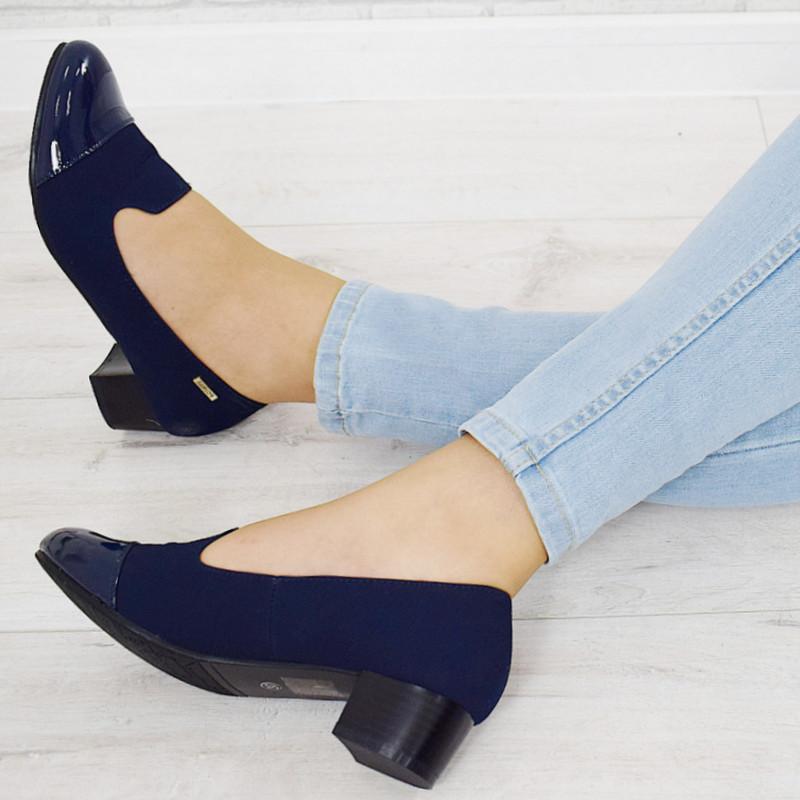 df0e5a5af43 Темно-синие Туфли-лодочки на Стойке Мари  продажа