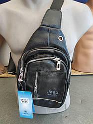 Чоловіча сумка через плече crossbody Jeep чорний кроссбоди