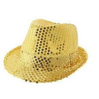 """Шляпа """"Супер звезда"""" золотая"""
