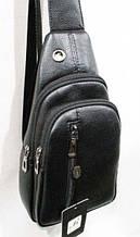 Черная мужская сумка - бананка на пояс  размер 17 х 31 см