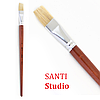 Кисть художественная Щетина плоская, Santi Studio