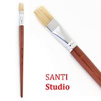 Кисть художественная Щетина плоская, Santi Studio, фото 1