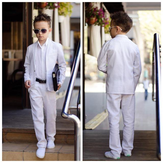 d8f0c659d85579f Костюм тройка классика пиджак брюки рубашка лен выпускной костюм для  мальчика рост 116-152 см