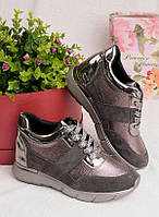 Кроссовки с бронзовыми вставками 25946, фото 1