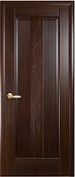 Дверное полотно Премьера Глухое с гравировкой Каштан