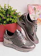 Кроссовки с блестящим напылением 25944, фото 1
