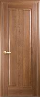 Дверное полотно Премьера Глухое с гравировкой Золотая ольха