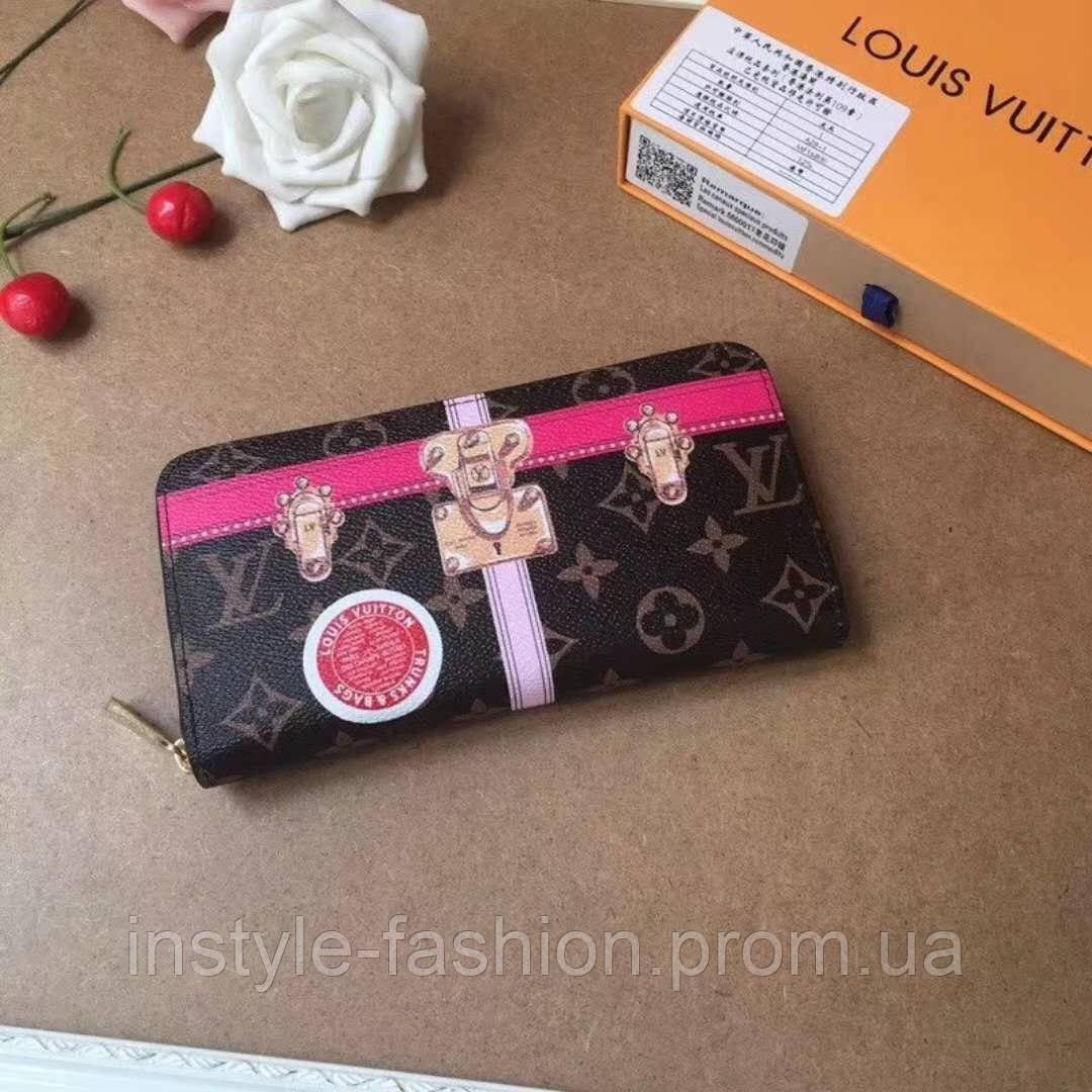 d25ba66a8e66 Кожаный женский кошелек Louis Vuitton Луи Виттон коричневый: купить ...