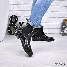 """Ботинки, ботильоны черные""""DoReMi"""" резиновая, теплая, демисезонная осенняя, женская обувь, фото 2"""