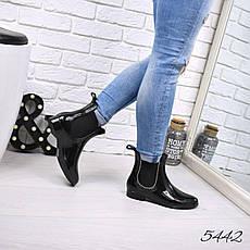"""Ботинки, ботильоны черные""""DoReMi"""" резиновая, теплая, демисезонная осенняя, женская обувь, фото 3"""