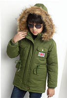 """Парка детская демисезонная куртка для мальчика """"Флаг"""""""