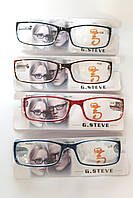 Очки для зрения +1+4 с флексами без чехла, фото 1
