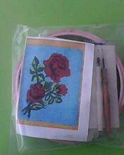 Набор для ковровой вышивки  2 иглы Роза