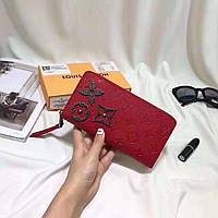 Кожаный женский кошелек Louis Vuitton Луи Виттон красный