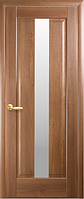 Дверное полотно Премьера Со стеклом сатин Золотая ольха