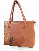 Женская сумка 32 х 24 см  цвет рыжий, фото 1