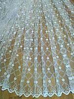 Тюль в спальню Жемчужные цветы, фото 1
