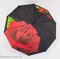 """Женский зонт полуавтомат """"rose flower"""" от фирмы """"Feeling Rain""""."""