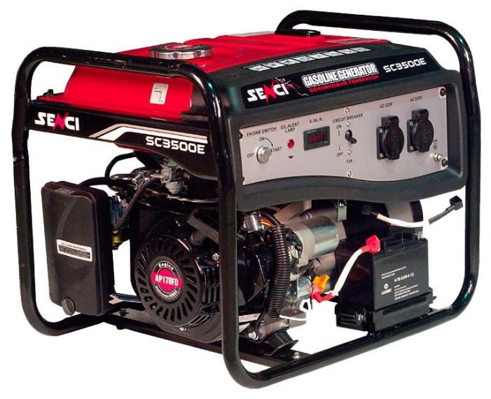 Генератор бензиновый SENCI SC3500-Е (2.8-3.1кВт), эл.с.