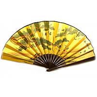 Веер настенный бамбуковый с шелком Журавли