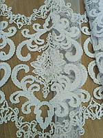 Гардина в гостиную, зал, спальню, шениловая вышивка на фатине,Турция