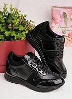 Черные кроссовки на шнуровке 25940, фото 1