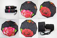 "Женский зонт полуавтомат ""rose flower"" оптом на 10 спиц анти-ветер от фирмы ""Feeling Rain""., фото 1"