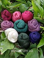 Шерсть разноцветная для валяния 25g