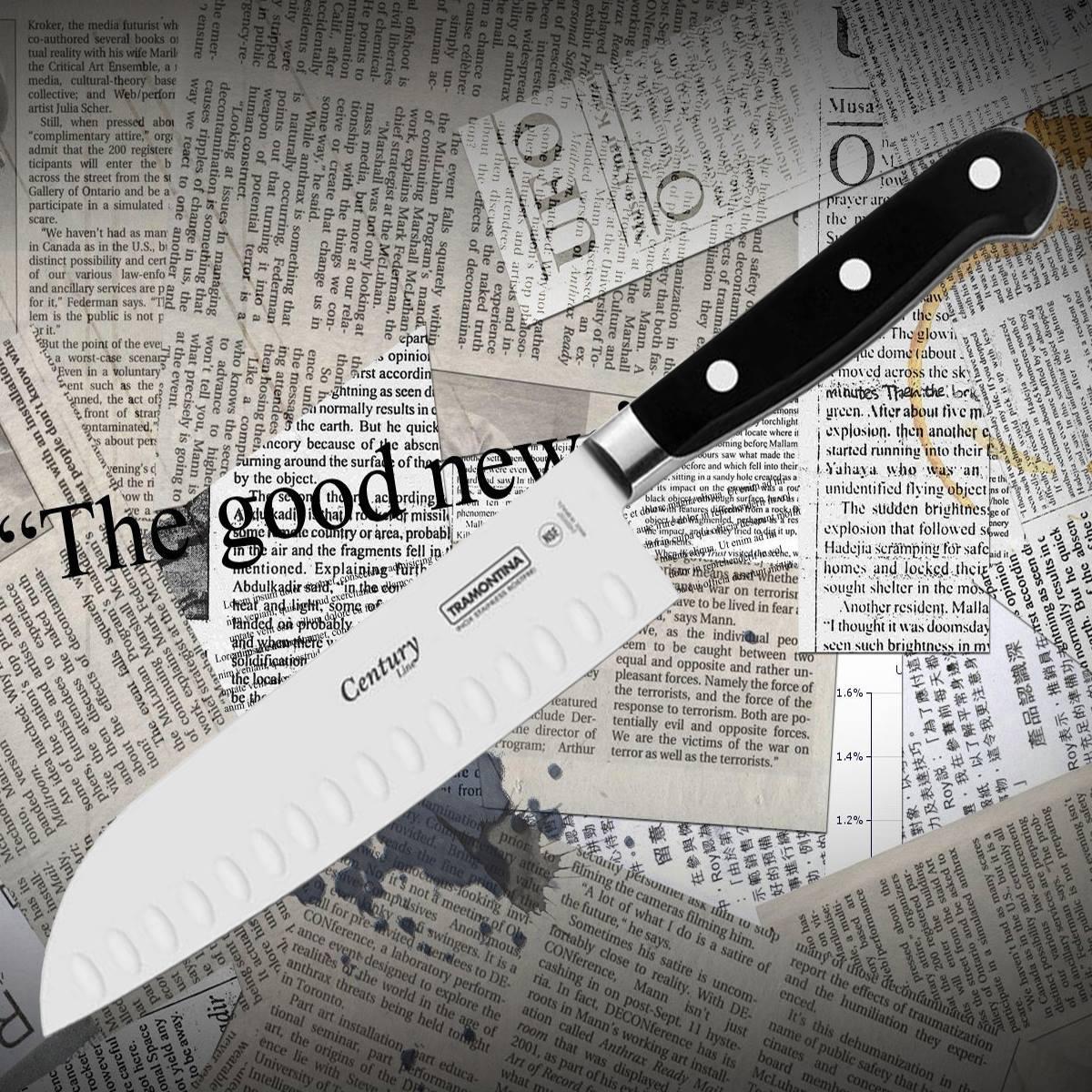 Нож кухонный Tramontina 24020/007 CENTURY сантоку